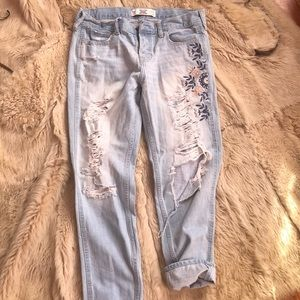 Vintage Hollister boyfriend distressed jeans